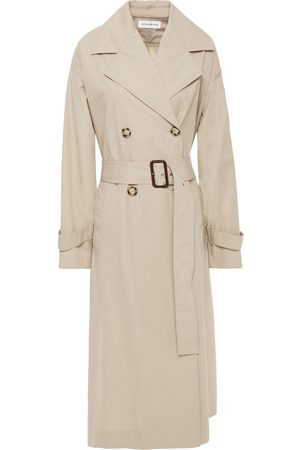 Victoria Beckham Woman Double-breasted Cotton-twill Trench Coat Size M