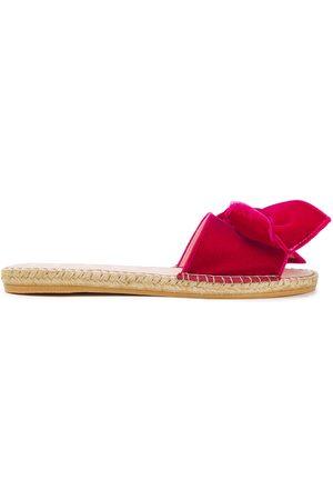 MANEBI Manebí Woman Hamptons Bow-embellished Velvet Espadrille Slides Fuchsia Size 35