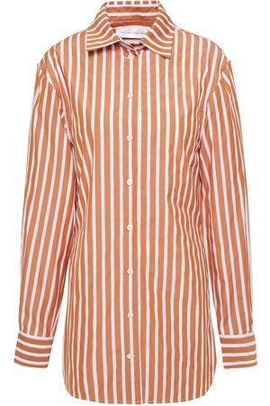 Victoria Beckham Woman Striped Cotton-poplin Shirt Light Size 8