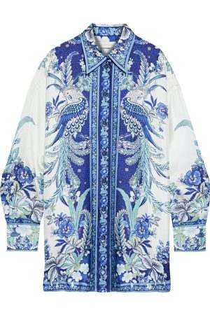 ZIMMERMANN Woman Glassy Placement Printed Silk-twill Shirt Size 0