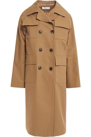 Victoria Beckham Woman Cotton-drill Trench Coat Camel Size 10