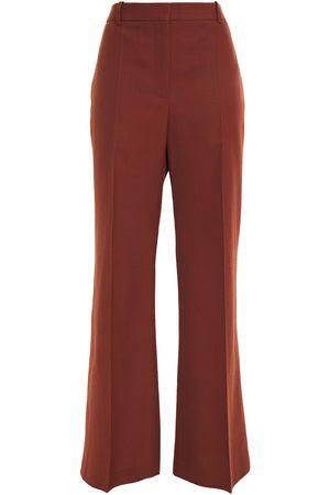 Victoria Beckham Woman Grain De Poudre Flared Pants Brick Size 12