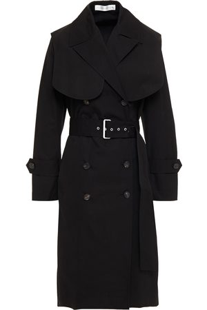 Victoria Beckham Woman Double-breasted Cotton-canvas Trench Coat Size 12