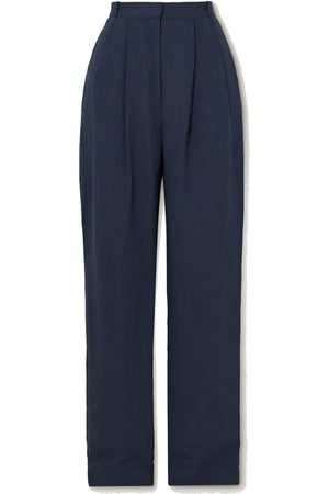 TOVE Arlet pleated poplin straight-leg pants