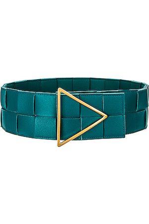 Bottega Veneta Intreccio Triangle Belt in Blue