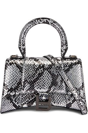 Balenciaga XS Hourglass Top Handle Bag in Metallic