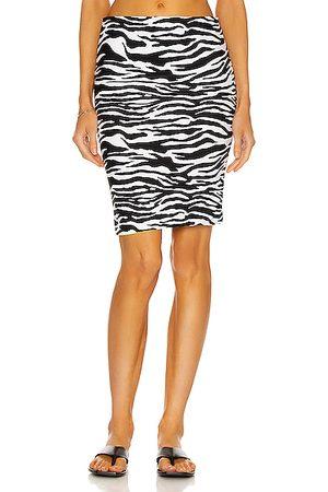 The Attico Zebra Print Mini Skirt in