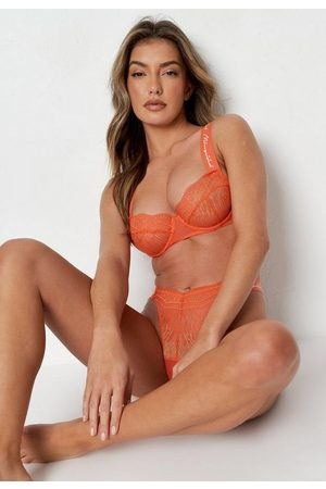 Missguided Coral Script Ladder Lace Underwired Bra