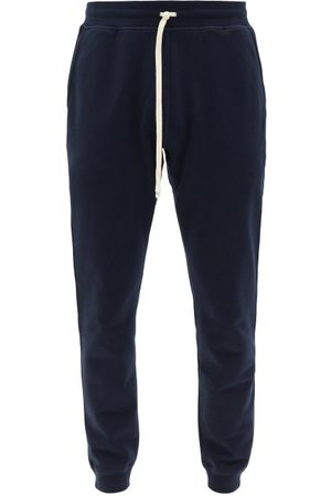 Reigning Champ Men Sweatpants - Cotton-terry Track Pants - Mens - Navy