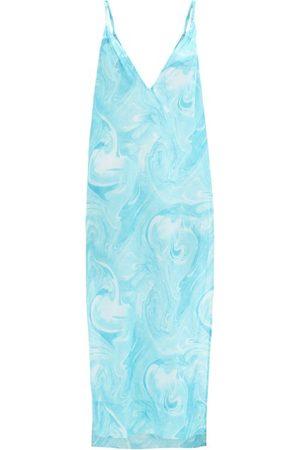 Ganni Women Printed Dresses - V-neck Abstract-print Voile Midi Dress - Womens - Print
