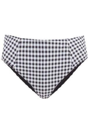 Ganni Gingham Mid-rise Bikini Briefs - Womens - Multi