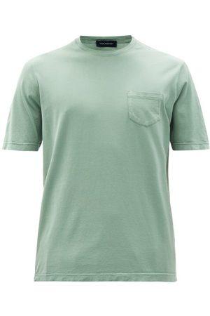 Thom Sweeney Patch-pocket Cotton-jersey T-shirt - Mens - Light