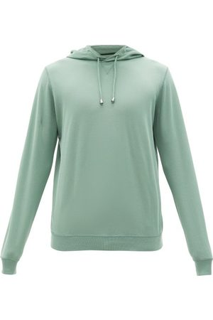 Thom Sweeney Cotton-piqué Hooded Sweatshirt - Mens - Light