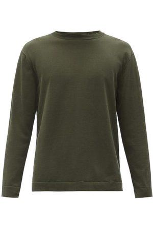 Thom Sweeney Crew-neck Cotton-jersey Sweater - Mens - Khaki