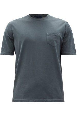 Thom Sweeney Men T-shirts - Patch-pocket Cotton-jersey T-shirt - Mens - Grey