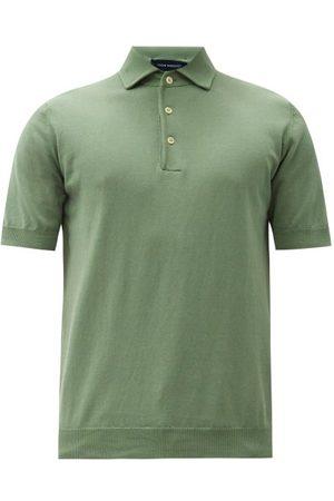 Thom Sweeney Spread-collar Cotton Polo Shirt - Mens - Light