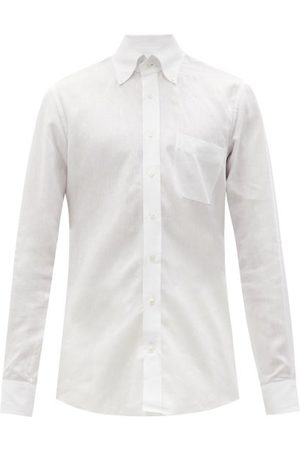 Thom Sweeney Patch-pocket Linen Shirt - Mens