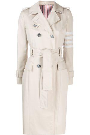 Thom Browne 4-Bar waterproof trench coat - Neutrals