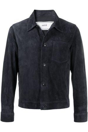 Ami Suede overshirt jacket