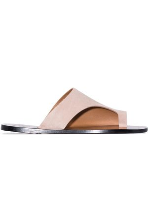 ATP Atelier Women Sandals - Rosa cut-out leather sandals - Neutrals