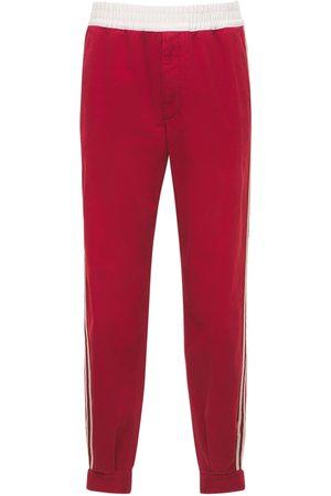 Gucci Men Pants - Military Cotton Drill Pants W/ Buckles
