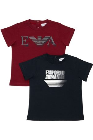 Emporio Armani Set Of 2 Cotton Jersey T-shirts