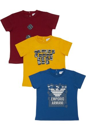 Emporio Armani Set Of 3 Cotton Jersey T-shirts