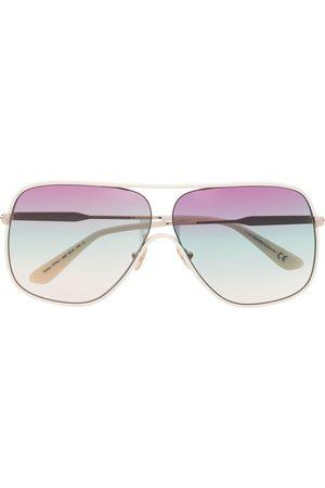 Tom Ford Aviator-frame gradient-lens sunglasses - Neutrals