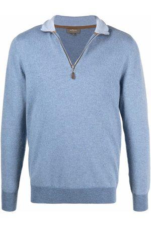 N.PEAL Half-zip cashmere jumper
