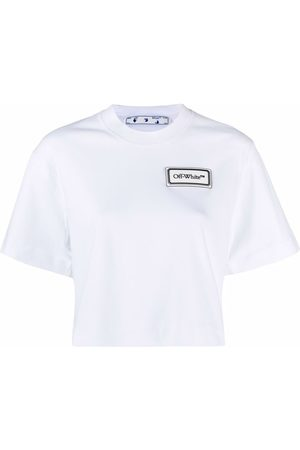 OFF-WHITE Logo patch cropped T-shirt
