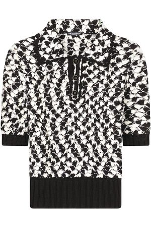 Dolce & Gabbana Geometric-pattern knitted polo top