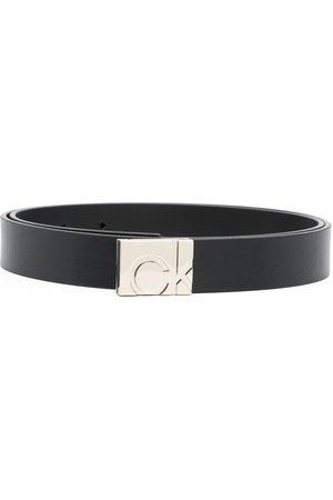 Calvin Klein Square logo-buckle belt