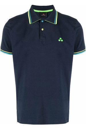 Peutery Stripe-trim polo shirt