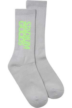 Stadium Goods Crew logo socks - Grey
