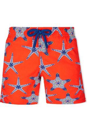 Vilebrequin Boys Swim Shorts - Starfish drawstring swim shorts
