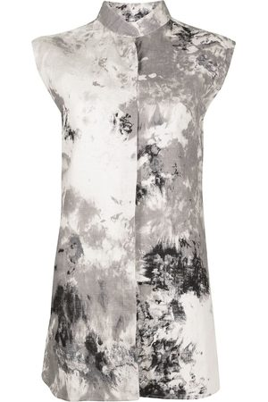 Bambah Tie-dye print sleeveless tunic - Grey