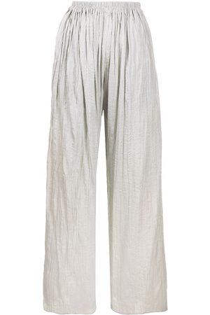 Bambah Alice crinkled-effect wide-leg trousers