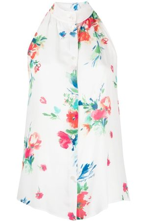 Moschino Women Halterneck Tops - Floral-print halterneck blouse