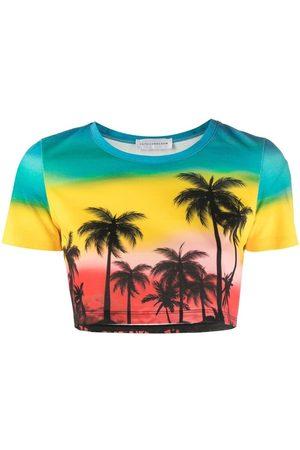 FAITH CONNEXION Palm tree-print cropped T-Shirt