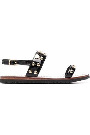 Love Moschino Women Flat Shoes - Heart-stud flat sandals