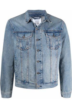 Armani Graphic-print denim jacket