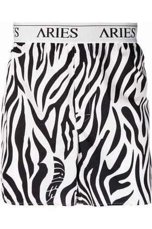 ARIES Zebra-print logo boxers