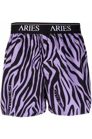 ARIES Men Boxer Shorts - Zebra-print logo boxers