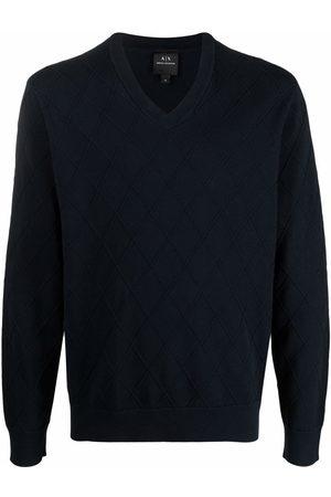 Armani Diamond-stitch knitted jumper