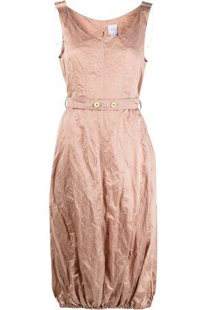 Patou Crinkled sleeveless midi dress
