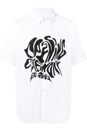 Opening Ceremony Men Shirts - Melted logo cotton shirt