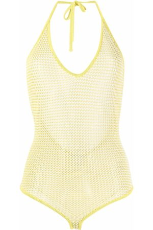Bottega Veneta Open knit halterneck body