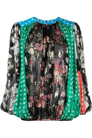 Dolce & Gabbana Patchwork ruched blouse