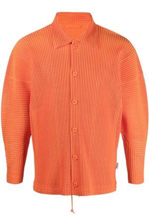 HOMME PLISSÉ ISSEY MIYAKE Plissé-effect long-sleeve shirt