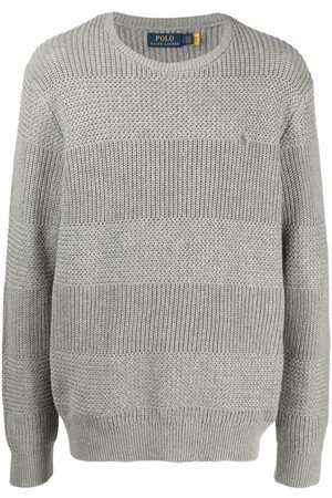 Polo Ralph Lauren Contrast-knit cotton jumper - Grey